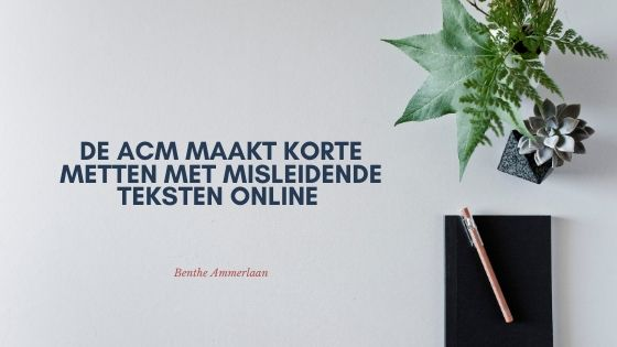 ACM blog door Benthe Ammerlaan