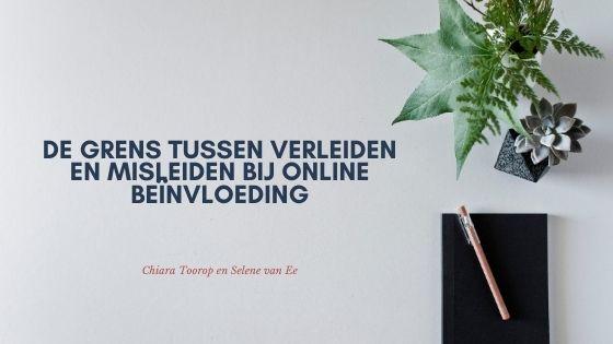 Verleiden en misleiden bij online beïnvloeding