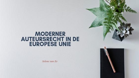 Moderner auteursrecht in de EU